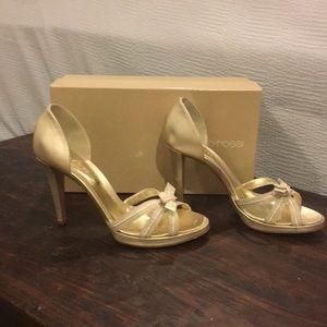 NIB Sergio Rossi gold sandals